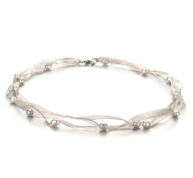 Jasmin Halskette - Weiß A 5-6mm Süßwasser