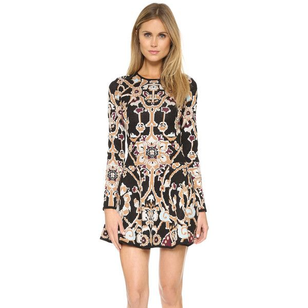 Ronny Kobo Annis Dress (2.890 DKK) ❤ liked on Polyvore featuring dresses, multi, black floral print dress, floral ruffle dress, torn by ronny kobo dress, floral print dress and frilly dress
