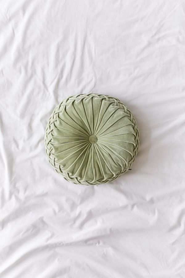 Round Pintuck Pillow Pillows Tufting Buttons Cute Pillows