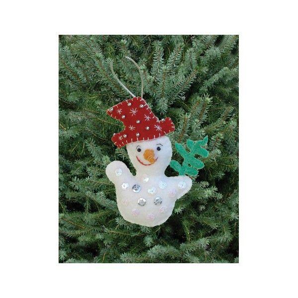 Kit couture décoration de Noël : DIY Bonhomme de neige - Décoration sapin de Noël