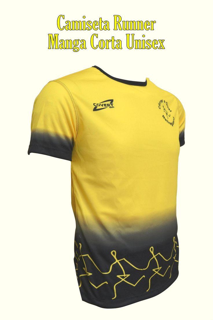 Covert Sport - Ropa Deportiva Personalizada Runner - Equipaciones Córrer a Gust - Bellreguard - Camiseta Runner Manga Corta Unisex