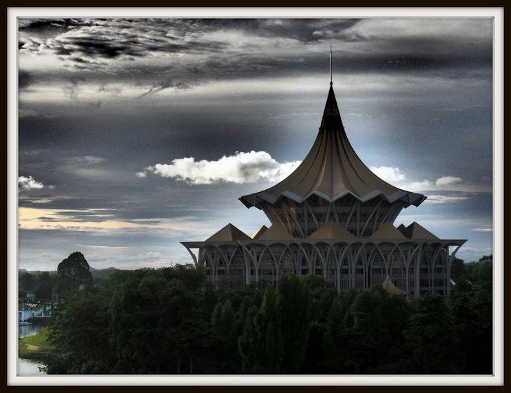 Kuching city view, Sarawak.