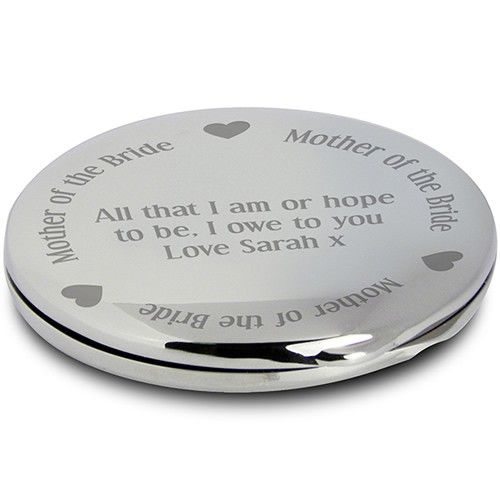 Personalised Mother of the Bride Handbag Mirror  from Personalised Gifts Shop - ONLY £14.99