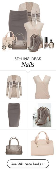 """Pullon Pencil Skirt"" by malathik on Polyvore featuring maurices, Avenue Montaigne, Wallis, Paris Hilton, Coach, Ippolita, Bobbi Brown Cosmetics and Jimmy Choo"