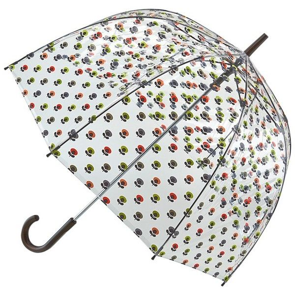 Orla Kiely by Fulton Birdcage Floral Umbrella, Clear/Multi (2.420 RUB) ❤ liked on Polyvore featuring accessories, umbrellas, umbrella, clear umbrella, clear dome umbrella, dome shaped umbrella, floral umbrella and dome umbrella