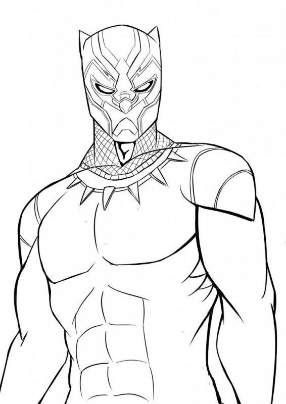 Coloriage Captain America Civil War.Coloriage Black Panther Black Panther Drawing Superhero