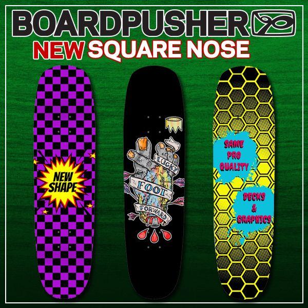New Boardpusher Com Skateboard Deck Shape Square Nose In 2020 Skateboard Nose Square