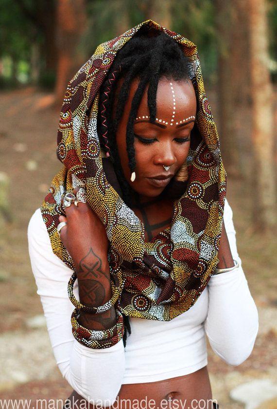 Anahata Brown Bohemian ruched draped skirt by manakahandmade