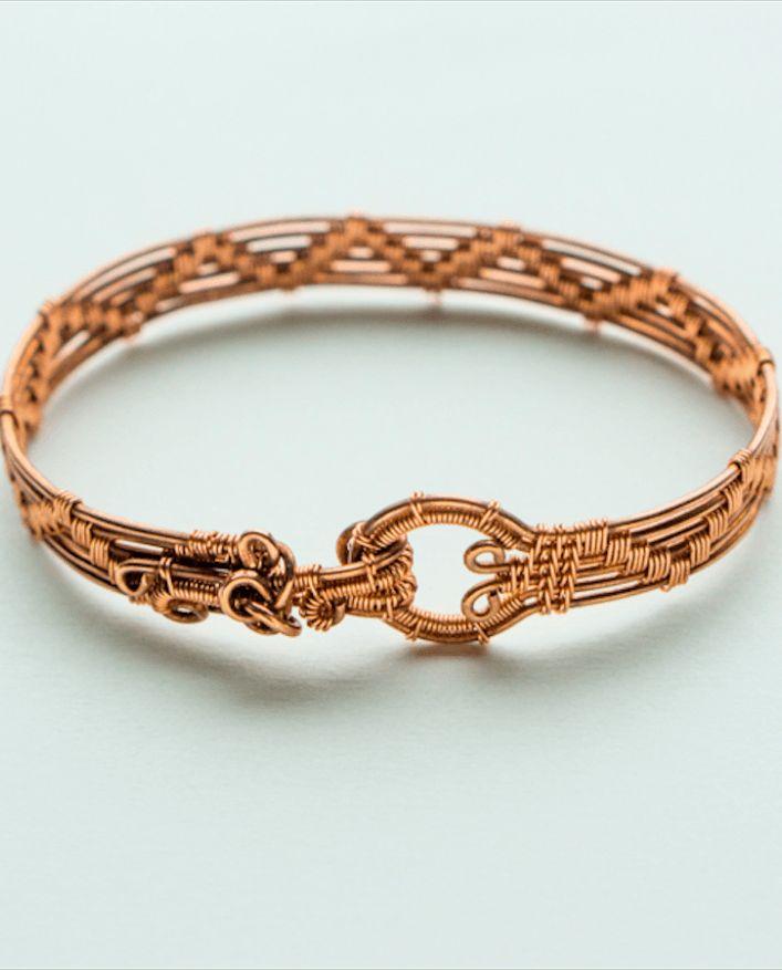 Earth Mother Godess  Healing Copper Bracelet.  Handmade wire bracelet.