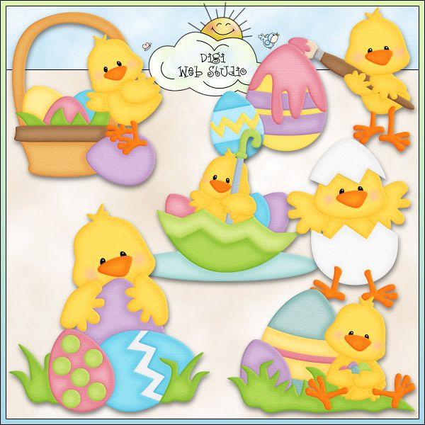 Easter Chicks 1 - Non-Exclusive Kristi Dailey Clip Art : Digi Web Studio, Clip Art, Printable Crafts & Digital Scrapbooking!