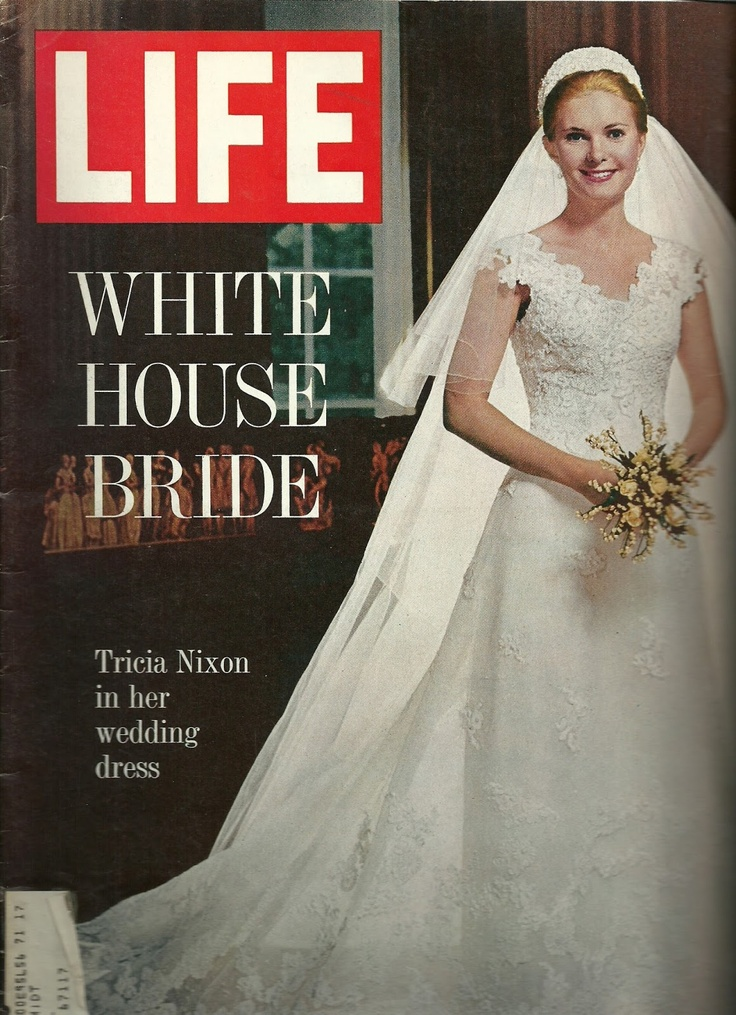 The White House wedding of Tricia Nixon in 1971 and the Priscilla of Boston gown she chose for it became the fantasy of young women all across America, and she was our 'Princess' for the next ten years, and then the world changed their focus to a real princess, The Lady Diana Spencer who became The Princess of Wales on July 29, 1981.