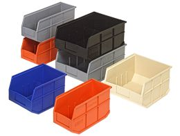 Stackable Shelf Bins: Quantum's exclusive Stackable Shelf Bins are an industry first and are ideal for medium size and large or heavy item storage.