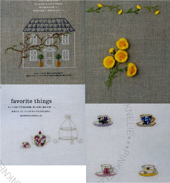 Reiko Mori Floral Motifs to Embroidery Japanese by PinkNelie