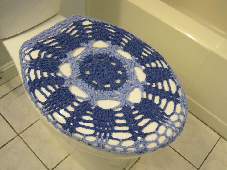 Cubierta de asiento de tocador de ganchillo azul por ytang en Etsy