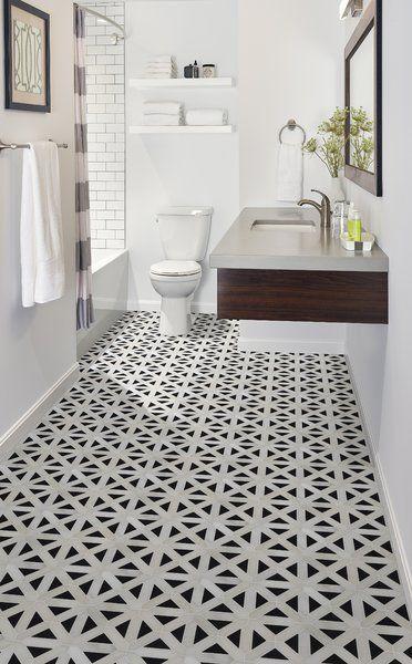 retro fretwork random sized marble mosaic tile in 2019 bathroom rh pinterest com