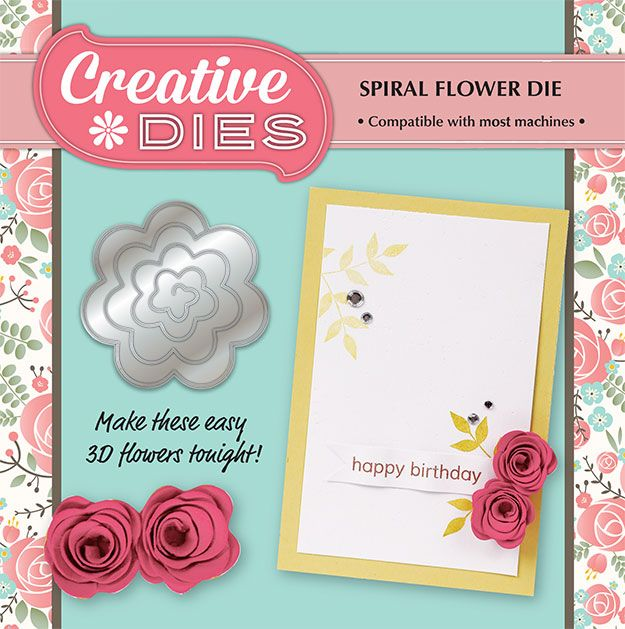 Grab your #FREE Spiral Flower die with Simply Cards & Papercraft 137 today! http://www.moremags.com/papercrafts/simply-cards-papercraft/issue137-simply-cards-papercraft