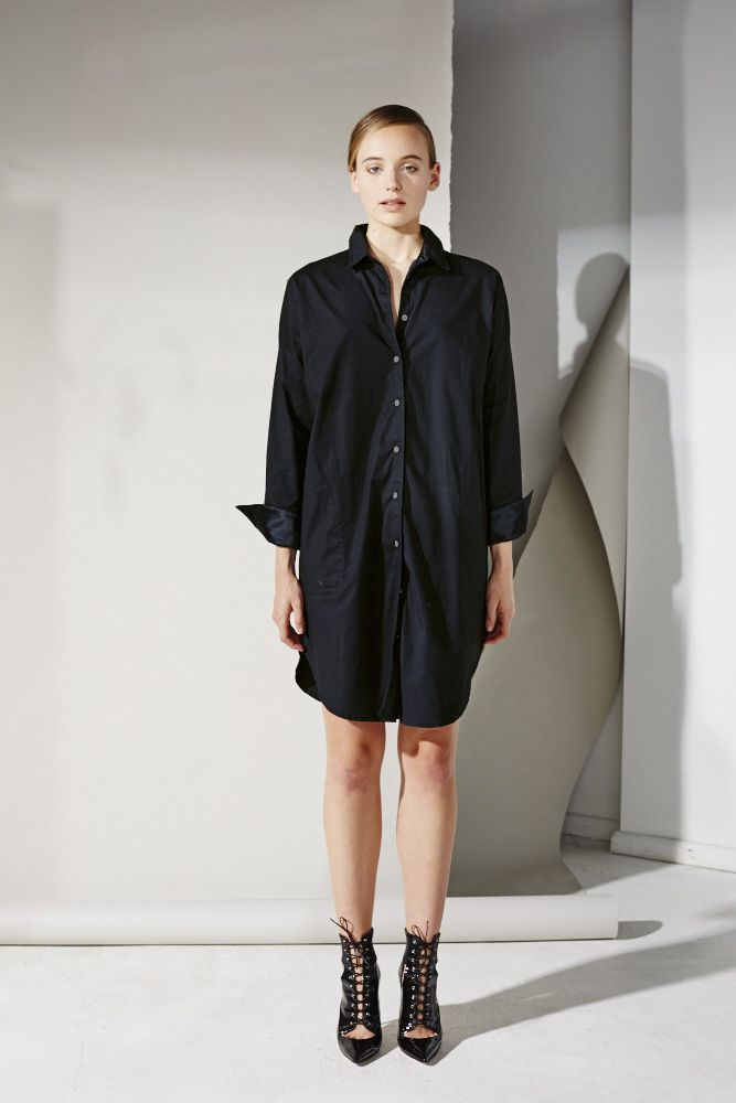 Canopy Shirt Dress in Black by MLM on shoptrawl.com, the home of Australian and New Zealand design and retail.