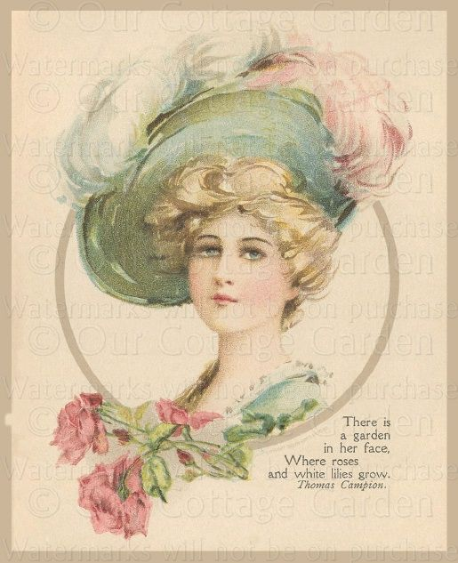 "Victorian Floral Gift Book ""Love's Sonnet"" Portraits Of Ladies"