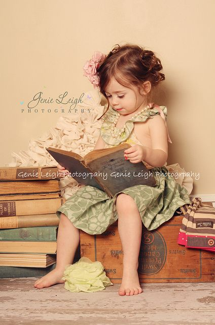 Child reading a book!
