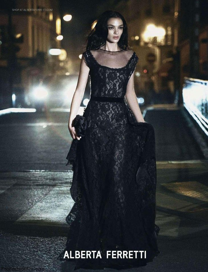 Mariacarla Boscono for Alberta Ferretti fall 2013 campaign