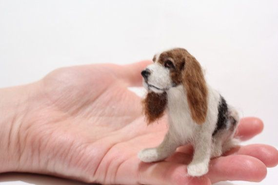 OOAK Miniature Basset hound dog by Malga by malga1605 on Etsy