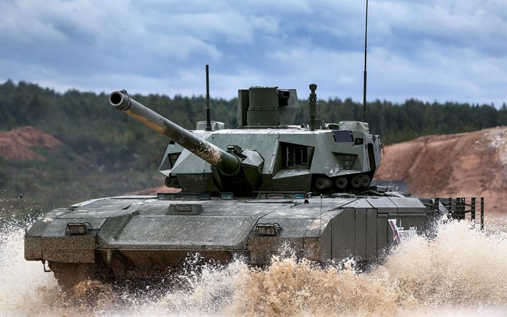 Download wallpapers Russian battle tank, T-14, Armata, Russian army, modern armored vehicles, tank