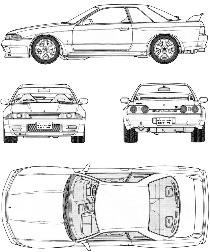 nissan r33 gtr coloring pages - photo#15