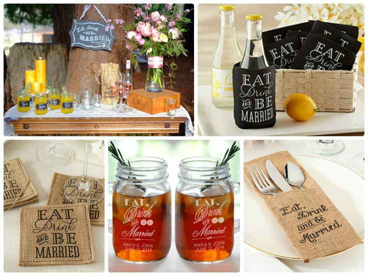 Eat Drink And Be Married Wedding Bridal Shower Ideas Favor Couture Http