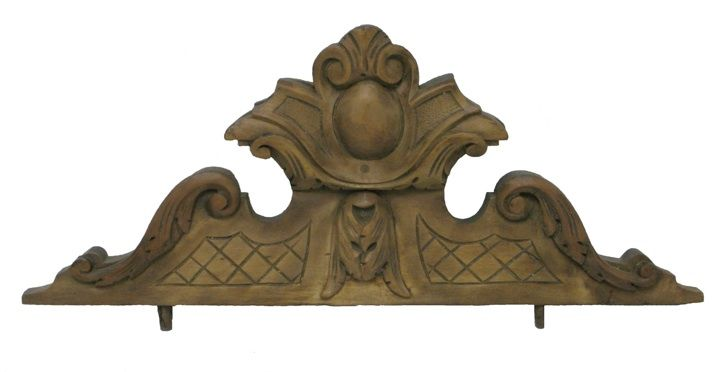 ** Wood Carved Over Door Pediment