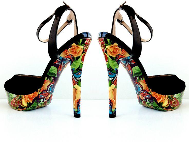 Супер сочный цветочный дизайн для украшения туфель
