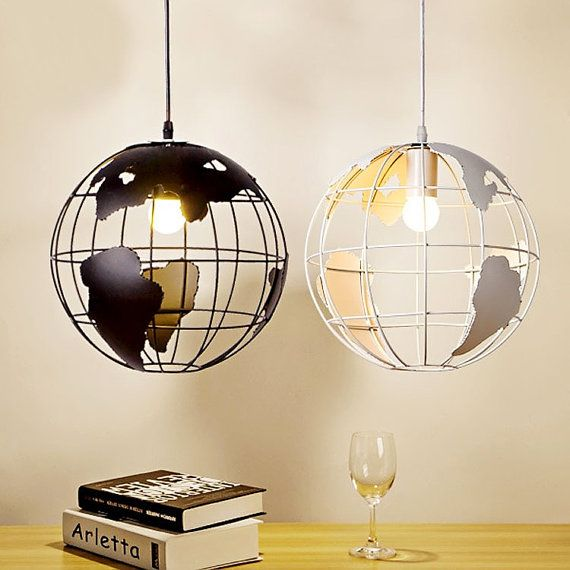 modern minimalist pendant light with Earth FREE SHIPPING