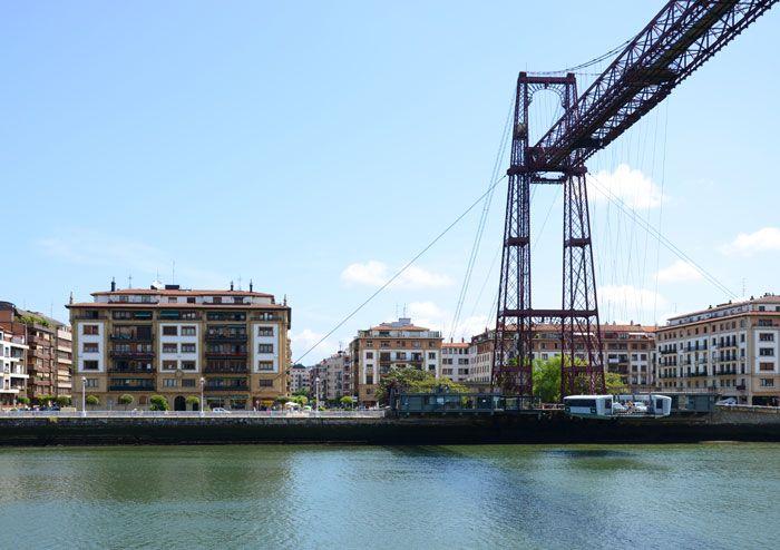 Puente Colgante desde Portugalete, vistas de Las Arenas. Basque Country, Spain.