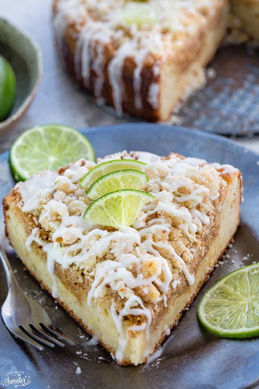 Key Lime Coffee Cake with White Chocolate Drizzle