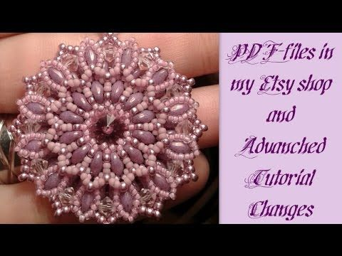 ▶ Zianna Pendant PDF-file + Etsy Store + Changes Advanced Tutorials by HoneyBeads - YouTube