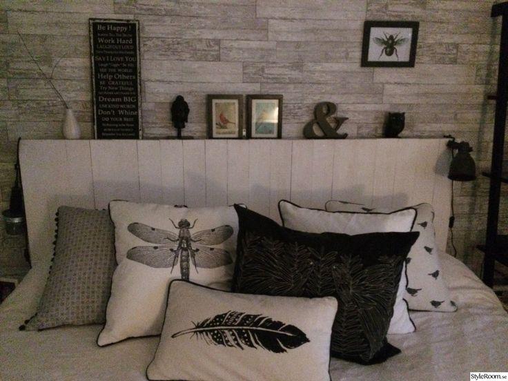 sänggavel vitmålat plank