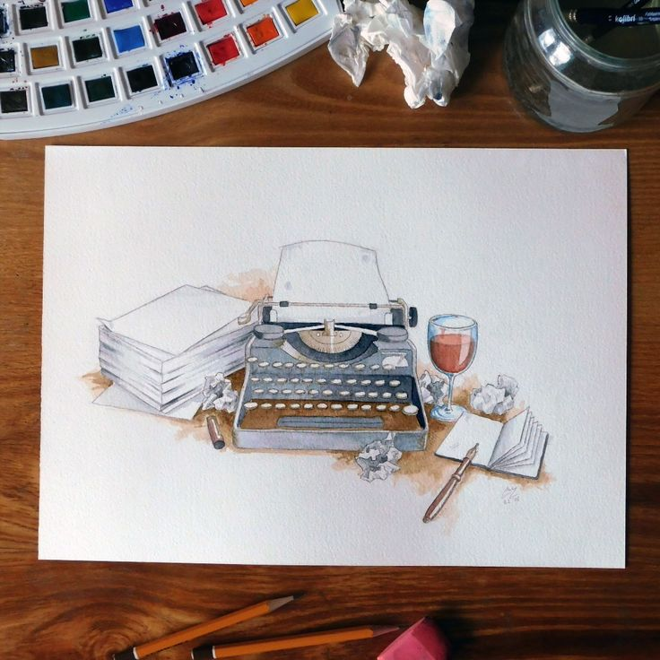 """Illustration Writer ✒ #illustration #drawing #watercolor #art #waterblog #dailyarts #_tebo_  #instaartexplorer #rtistic_feature #BLVART #art_realism…"""
