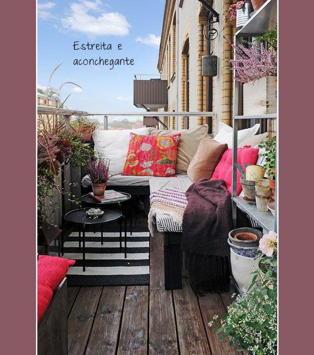 balcony + small and cozy