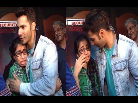 Varun Dhawan pampering a crying school girl at BADLAPUR screening | MUST WATCH.