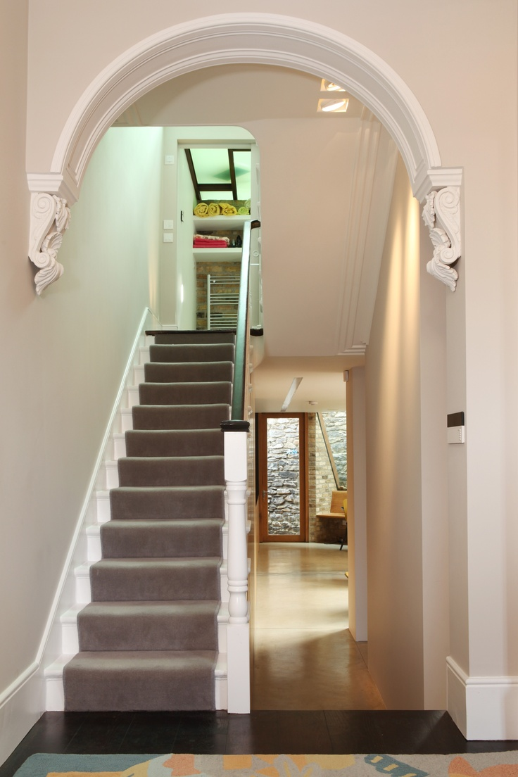 Foyer Colors Uk : Lpa restored victorian hallway arch architecture