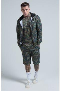 Illusive London Poly-tricot Camo Zip Hoodie