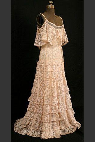 vintage channel lace evening dress1937.