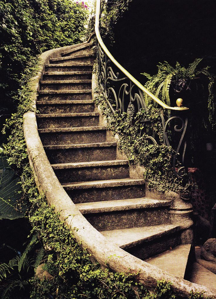 I hope these stairs take us to a secret garden.
