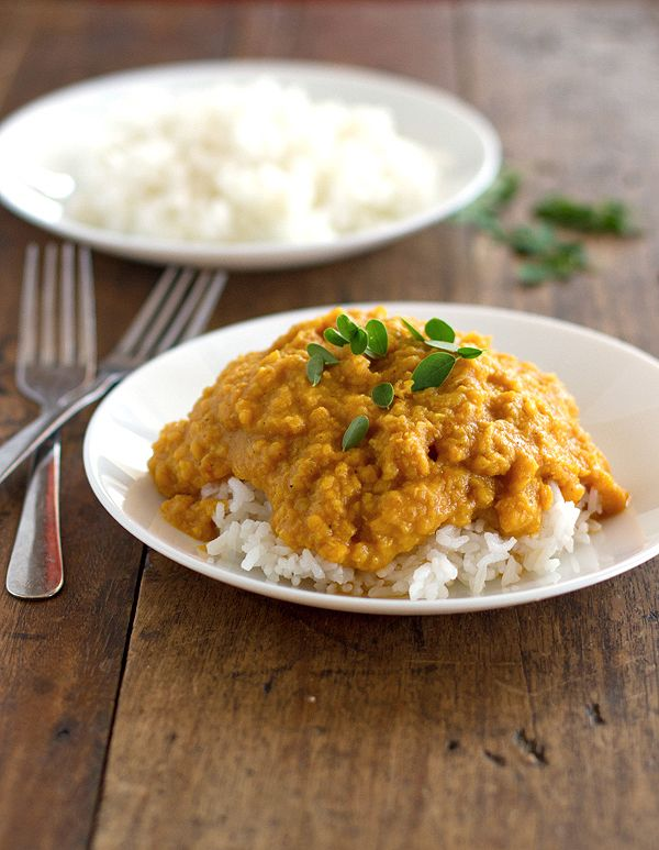 Pinch of yum - red lentil dhal