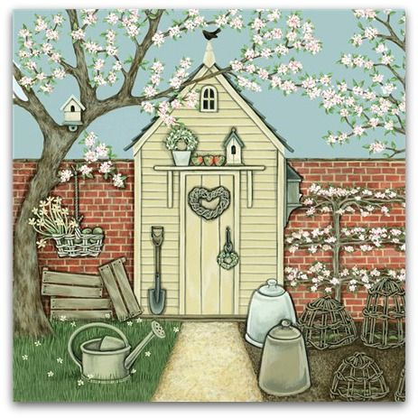 The Potting Shed Greetings Card - Sally Swannell
