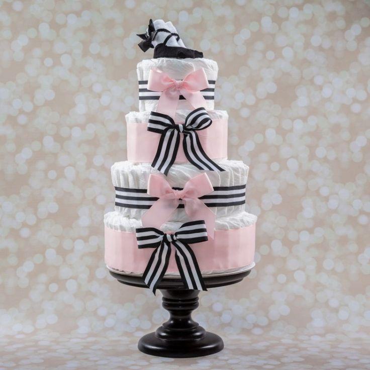 Geschenk zur Geburt für Mädchen - rosa Dekoband