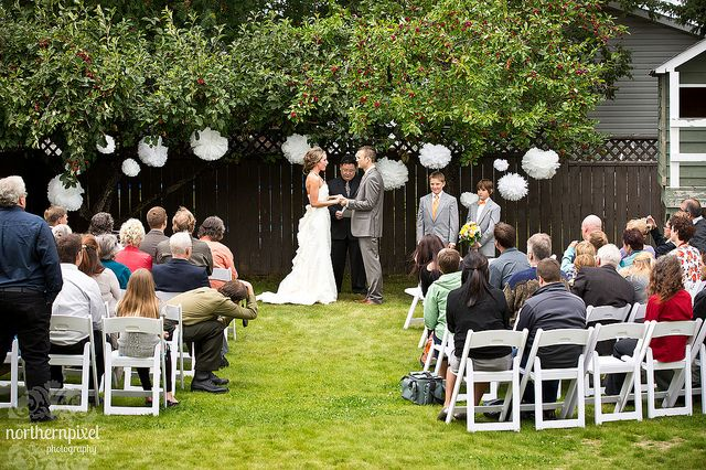 Backyard Wedding Ceremony - Prince George BC  -- Wedding Photography by Northern Pixel Photography
