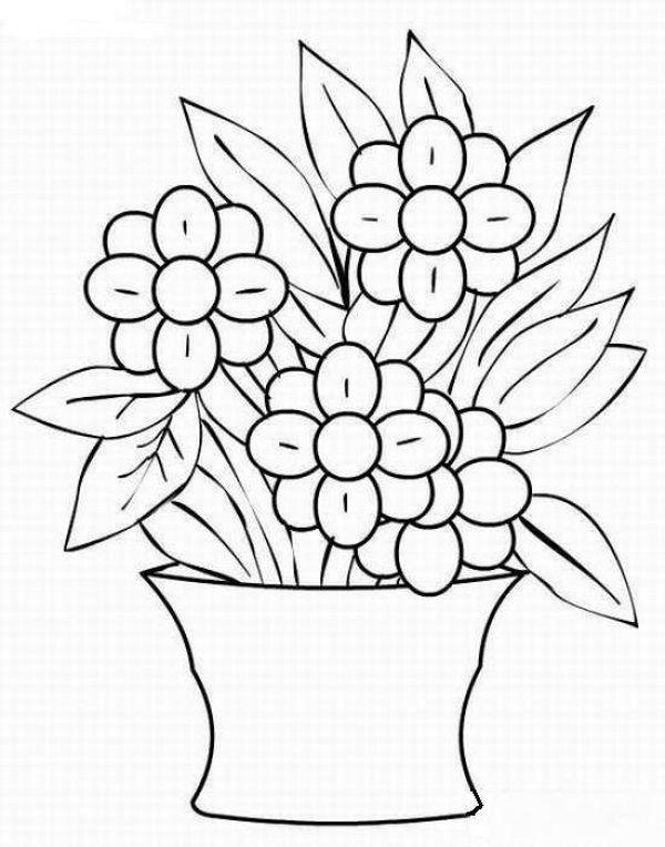 Картинки классные, ваза с цветами раскраска для детей