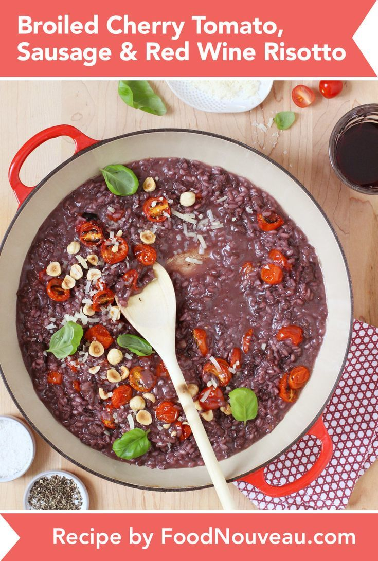 Red Wine Risotto Recipes Food Whole Food Recipes