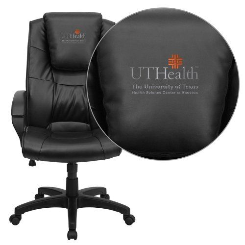 Flash Furniture Texas Health Science Center Houston Embroidered Black Leather Executive Office Chair The University of Texas Health Science Center Houston Embroidered Office Chair. Leather High Back Swivel Chair. Thick Padded Seat and Back. Oversized Headrest.  #Flash_Furniture #Home