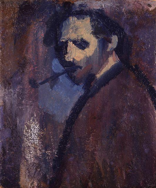 Bomberg, David (1890-1957) - 1932 Self Portrait (National Portrait Gallery, London) | Medium: oil on board; 59 x 49 cm.